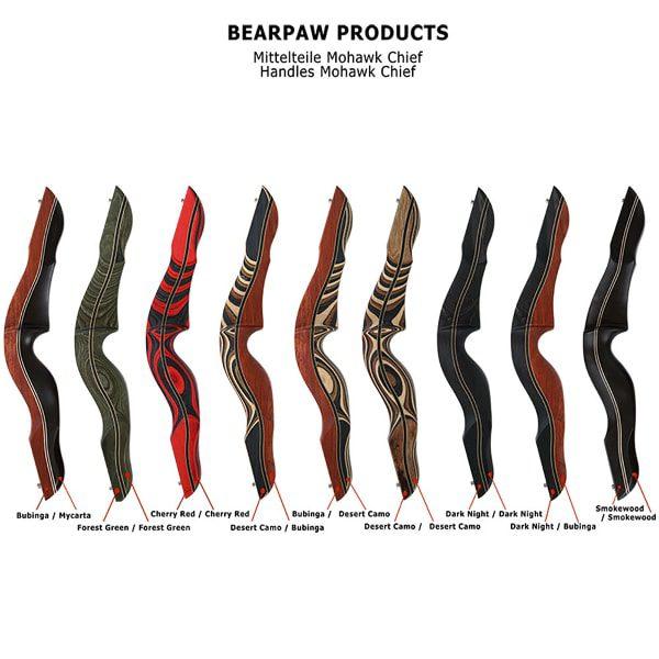 Bodnik Bows Mohawk Chief Griffstücke Farben